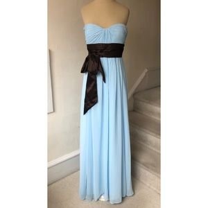 Bill Levkoff Strapless Sweetheart Chiffon Gown NWT